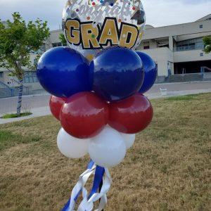 grad bubble party pole